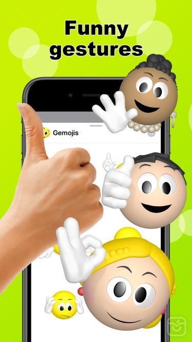 تصاویر Emoji + gestures > Gemojis