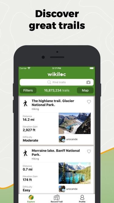 تصاویر Wikiloc Outdoor Navigation GPS