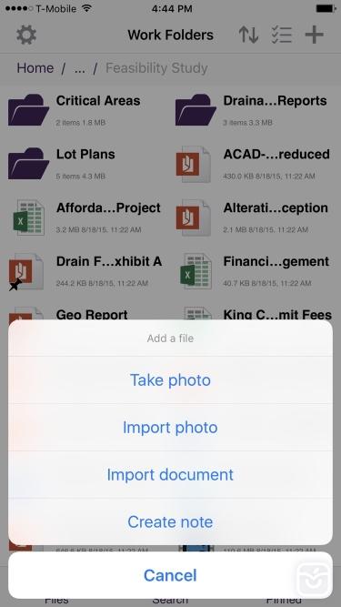 تصاویر Work Folders