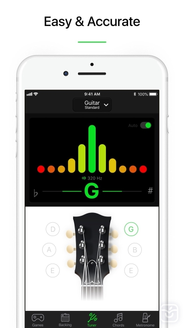 تصاویر Guitar Tuner Pro, Bass,Ukulele