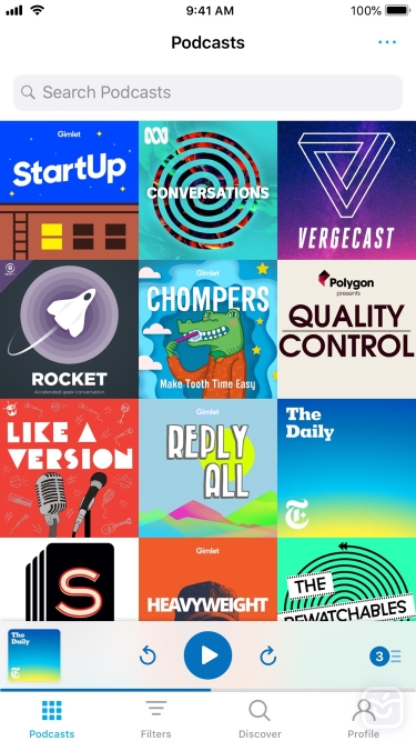 تصاویر Pocket Casts