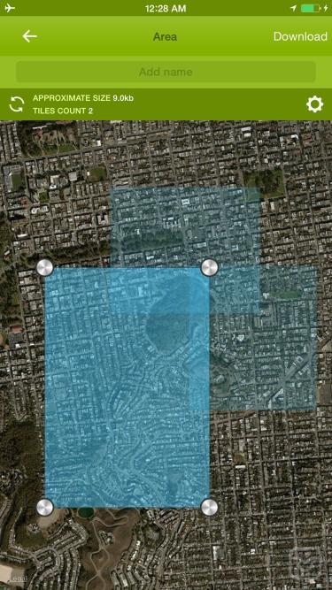 تصاویر Offline Maps - custom area caching and real-time label tracking