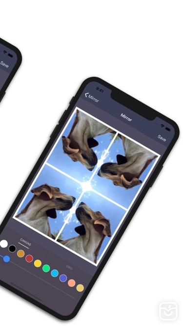 تصاویر Mirror: Canvas image creator