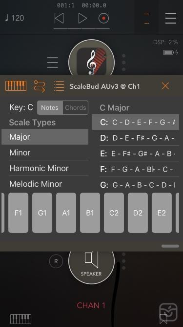 تصاویر ScaleBud - AUv3 MIDI Keyboard