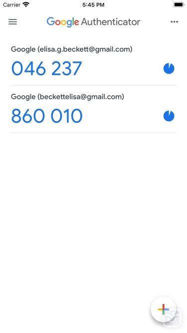 تصاویر Google Authenticator