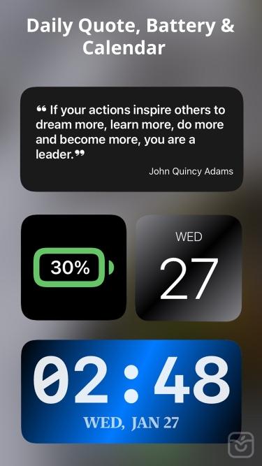 تصاویر Health Widget – Steps Counter