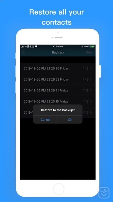 تصاویر Contacts Backup-Easy Export