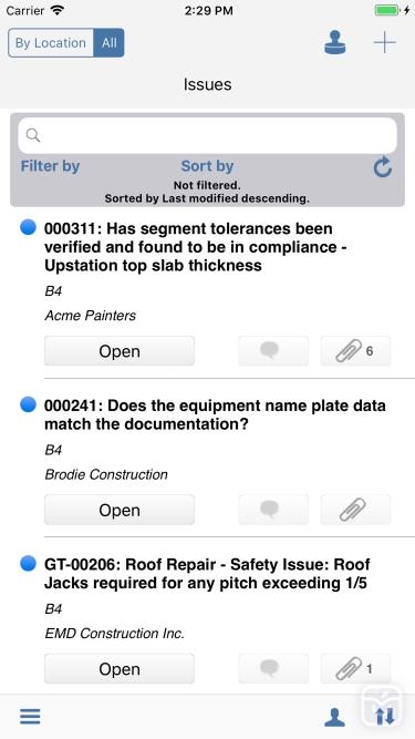 تصاویر BIM 360 Field for iPhones