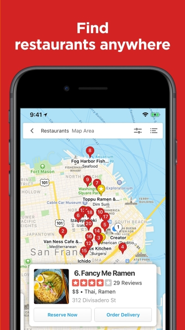 تصاویر Yelp Food, Delivery & Services