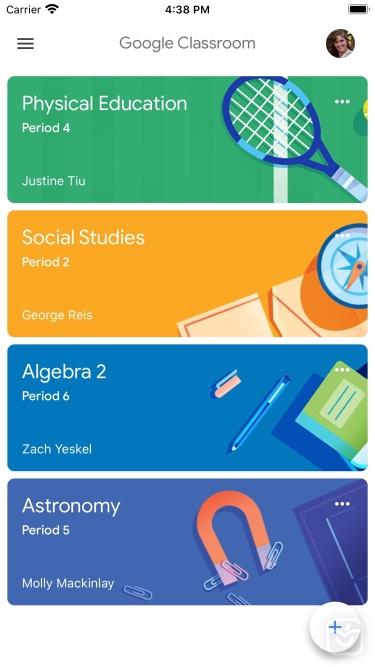 تصاویر Google Classroom