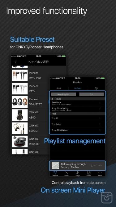 تصاویر Onkyo HF Player - Hi-Res Music
