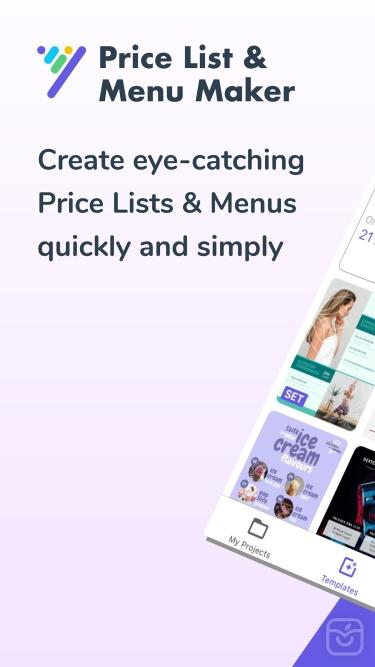 تصاویر Price List & Menu Maker