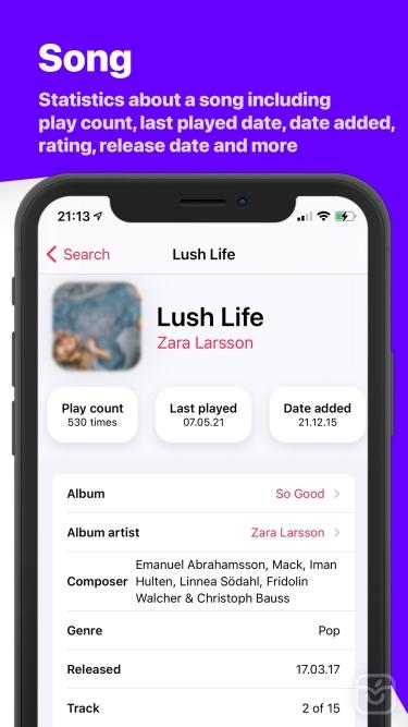 تصاویر Song Infos - your music stats