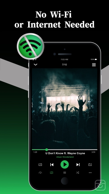تصاویر Offline Music Player