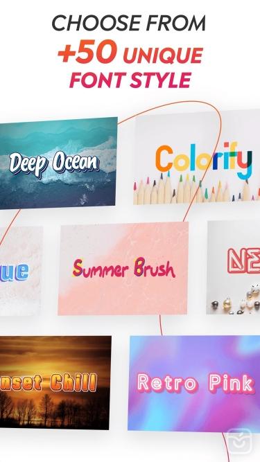 تصاویر Bold: Story Fonts & Stickers