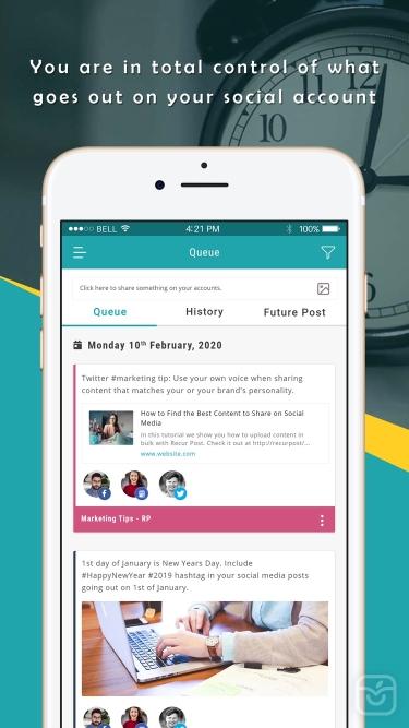 تصاویر RecurPost - Social Media App