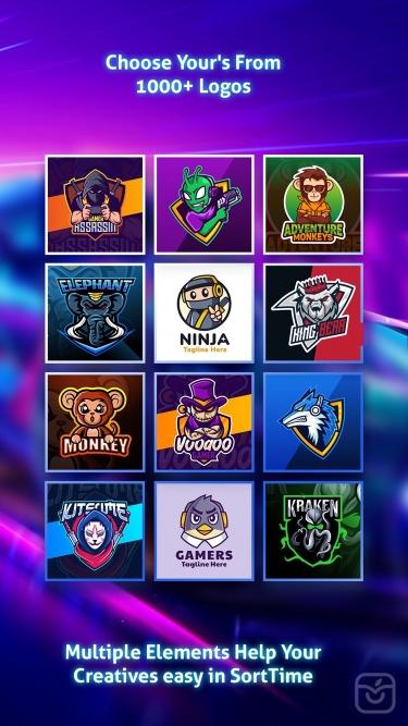 تصاویر Logo Maker Esport Gaming Logo