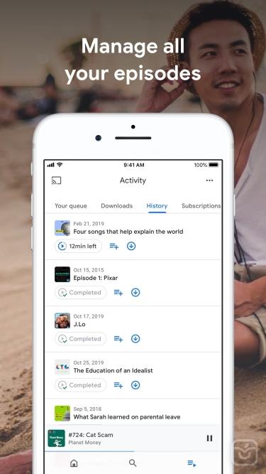 تصاویر Google Podcasts|گوگل پادکست