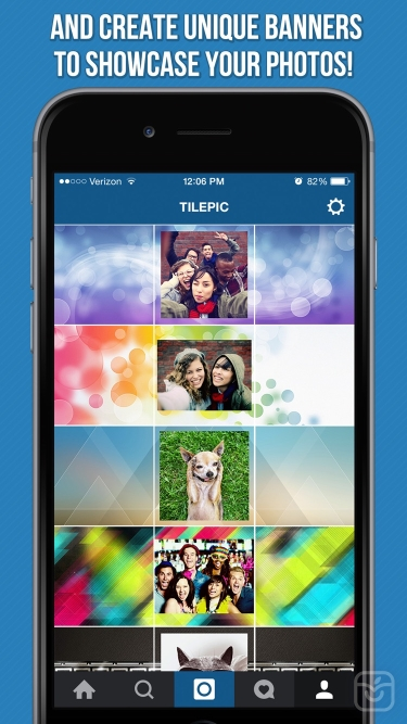 تصاویر Tile Pic - Photo Banner Editor