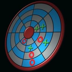 لوگو Tic Tac Toe in a Circle