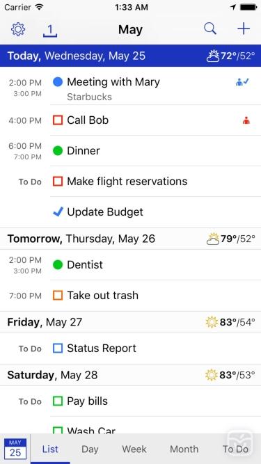 تصاویر BusyCal: Calendar & Todos