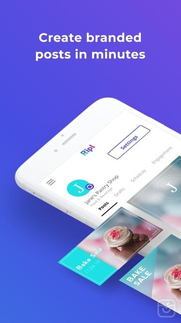 تصاویر  ++ Ripl: Create Social Posts
