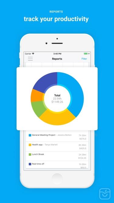 تصاویر Clockify Time Tracker