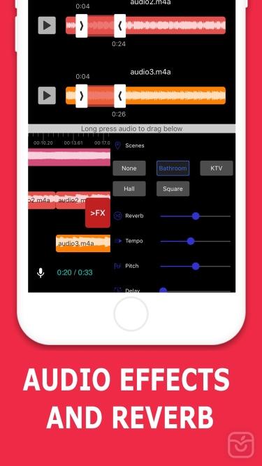 تصاویر Audio Editor - Music Mixer   ضبط و میکس صدا
