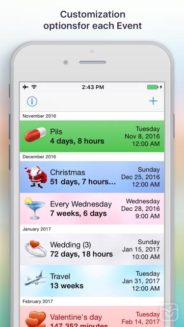 تصاویر Reminder & Countdown Pro