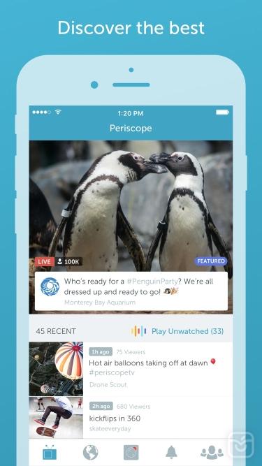 تصاویر Periscope Live Video Streaming