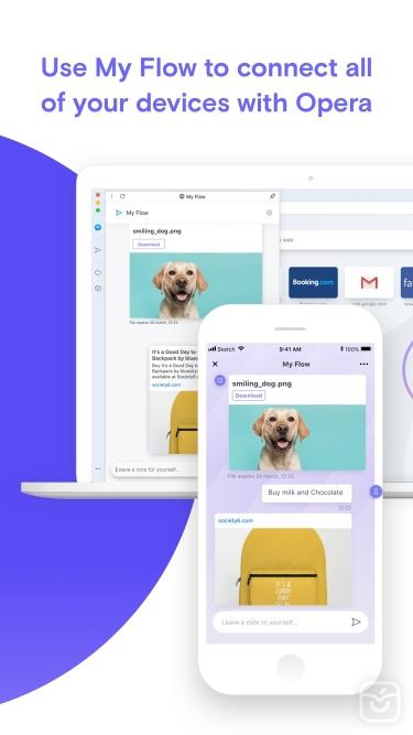 تصاویر Opera Touch web browser