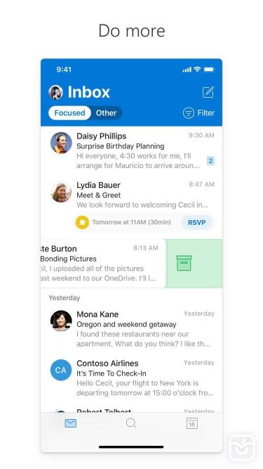 تصاویر Microsoft Outlook