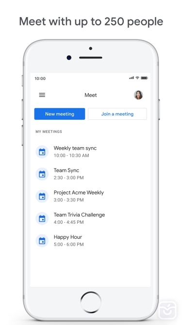 تصاویر Google Meet