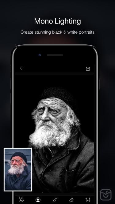 تصاویر Phocus: Portrait mode editor|ویرایش پس زمینه تصاویر