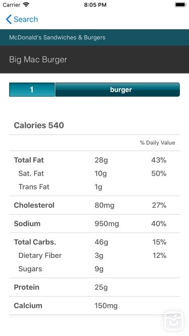 تصاویر CalorieKing Food Search
