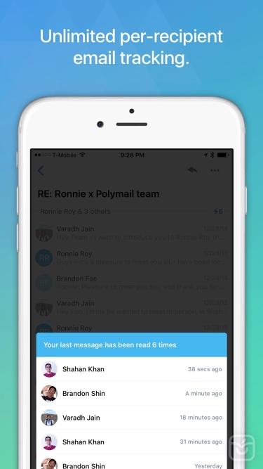 تصاویر Email - Polymail
