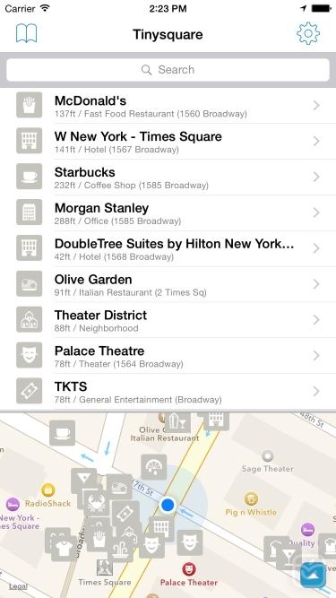تصاویر Tinysquare for Foursquare