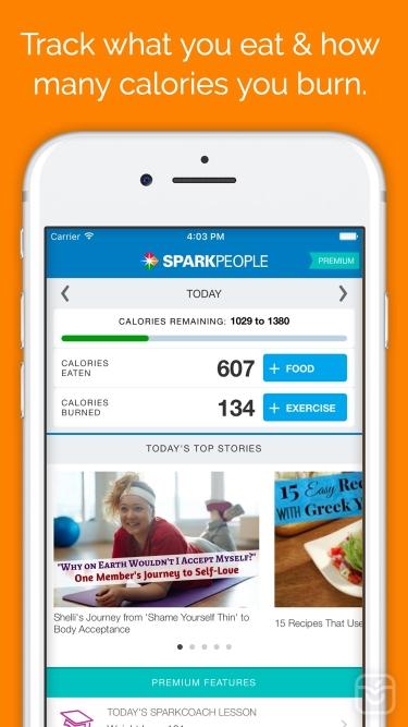 تصاویر SparkPeople Calorie Tracker