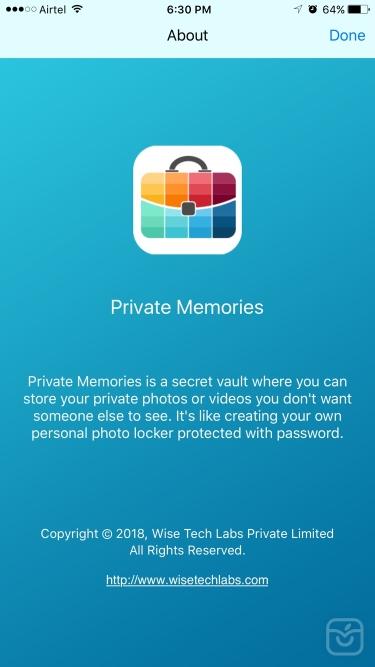 تصاویر Private Memories - Photo Vault