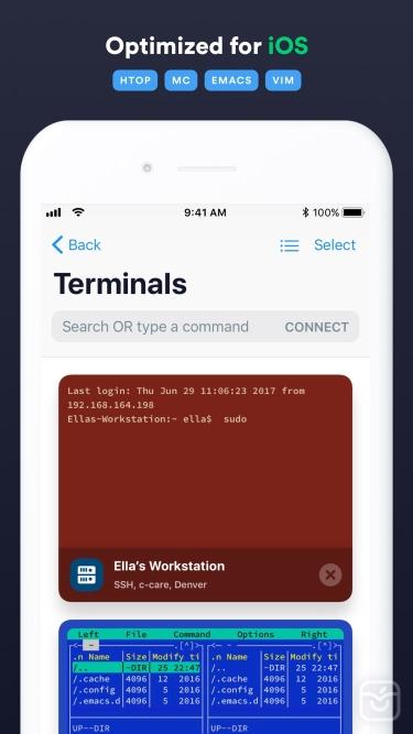 تصاویر Termius - SSH client