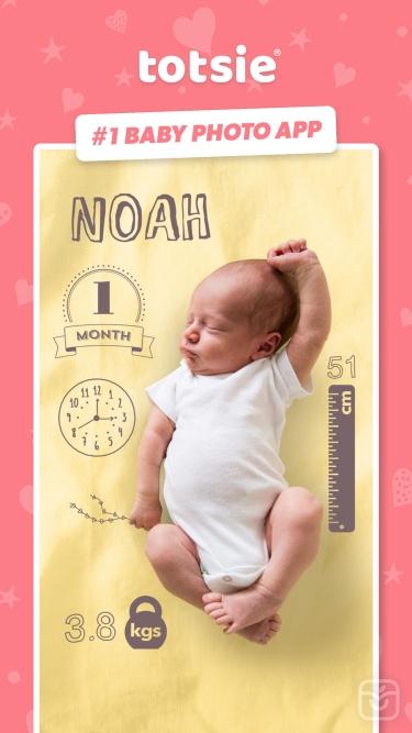 تصاویر Totsie – Baby Photo Editor