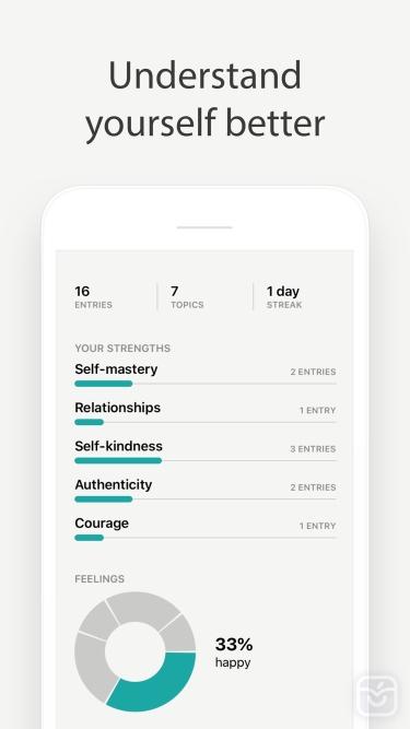 تصاویر Reflect - guided daily journal