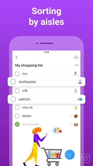 تصاویر Listonic Grocery Shopping List