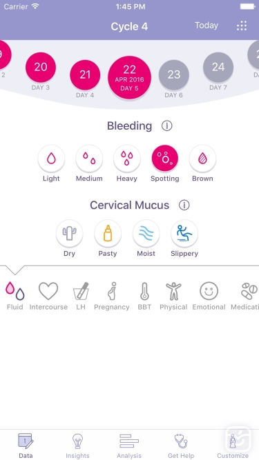 تصاویر FEMM Period Ovulation Tracker
