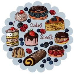 لوگو کیک و شیرینی