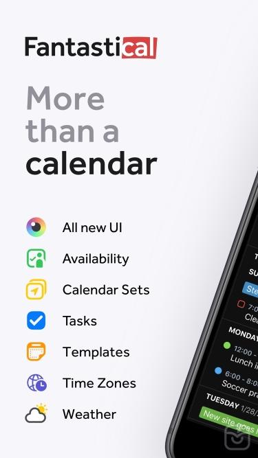 تصاویر Fantastical - Calendar & Tasks