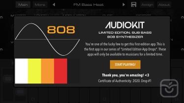 تصاویر LE01 | Bass 808 Synth + AUv3