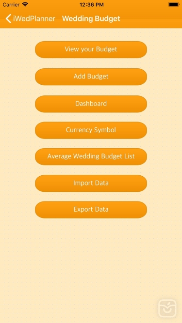تصاویر Wedding Planner iWedPlanner