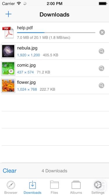 تصاویر Browser & File Manager