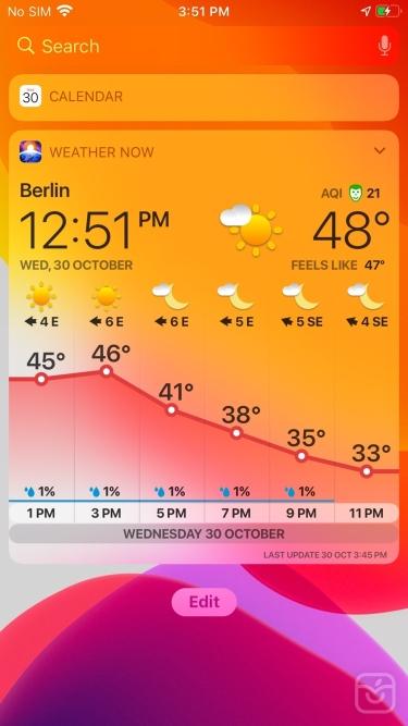 تصاویر WEATHER NOW ° - daily forecast